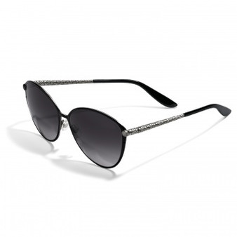 Brighton Ferrara Gatta Sunglasses in Black-Silver