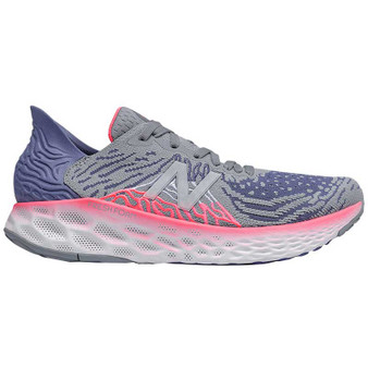 New Balance Women's 1080v10 in Steel With Magnetic Blue