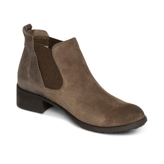 Aetrex Women's Beth Arch Support Weatherproof Ankle Boot in Brown