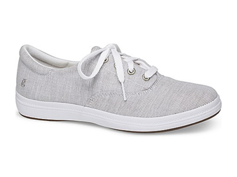 Grasshoppers Women's Janey II Sneaker in Stripe Gray