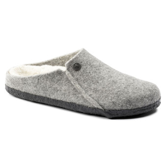 Birkenstock Zermatt Wool Felt Slipper in Light Gray