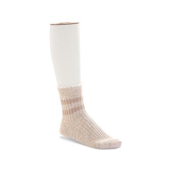 Birkenstock Women's Slub Lace Socks in Beige