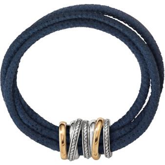 Brighton Neptune's Rings Slim Bracelet in Navy