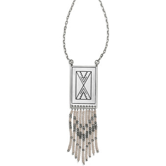 Brighton Africa Stories Beaded Fringe Necklace