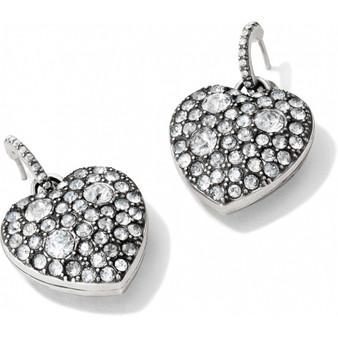 Brighton Anatolia Reversible Heart Post Hoop Earrings