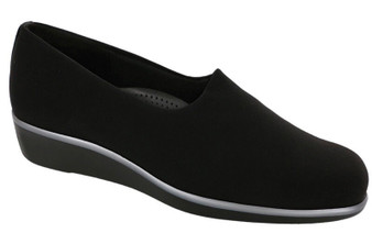 SAS Women's Bliss Slip On Wedge in Black