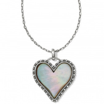 Brighton Twinkle Amor Necklace in Silver-Pearl
