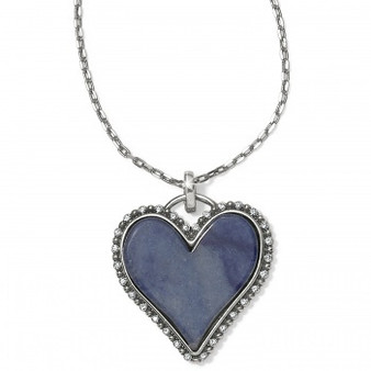 Brighton Twinkle Amor Necklace in Silver-Blue
