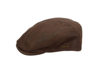Stetson Men's Moher Leather Ivy Cap in Brown