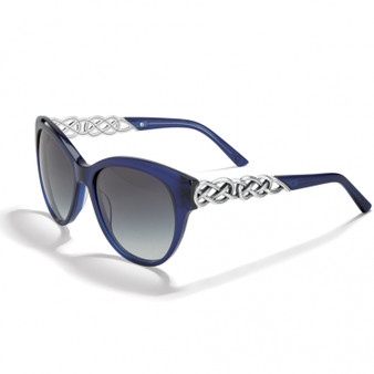 Brighton Interlok Braid Sunglasses in Silver-Blue