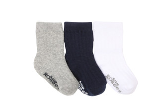 Robeez Boy's Basics Socks, 3 Pack