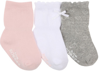 Robeez Girls Girly Girl Socks in Pink, 3 Pack
