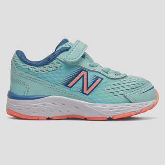 New Balance Toddler's Bungee Lace 680v6 in Bali Blue