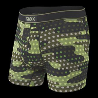 SAXX Daytripper Boxer Brief Underwear in Black Polka Camo
