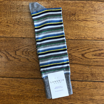 Lorenzo Uomo Men's Grey Stripe