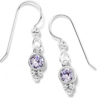 Brighton Color Drops French Wire Earrings in Silver-Grey