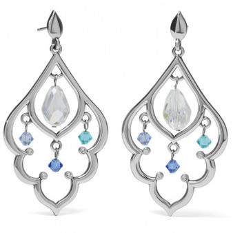 Brighton Prism Lights Scallop Post Drop Earrings