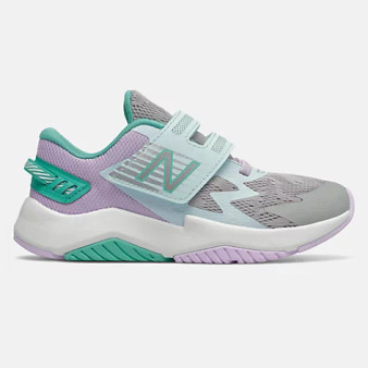 New Balance Children's Rave Run in Rain cloud with astral glow