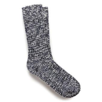 Birkenstock Women's Cotton Slub Socks in Blue/White