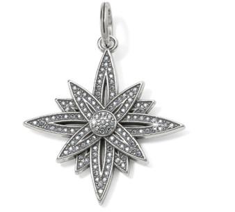 Brighton Brilliant Star Amulet in Silver