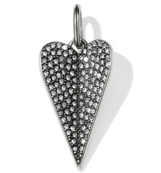Brighton Amyah Heart Amulet Silver/Red