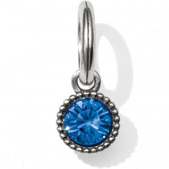 Brighton Glitz Highlight Amulet in Silver/Sapphire