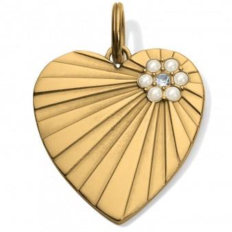 Brighton Vintage Heart Amulet in Gold