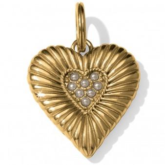 Brighton Wisdom Heart Amulet in Gold/Pearl