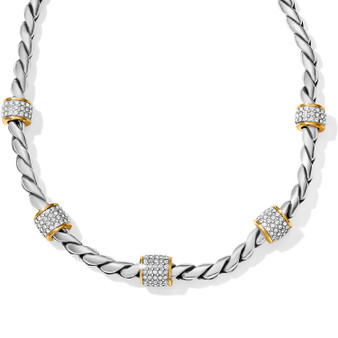 Brighton Meridian Necklace in Silver-Gold