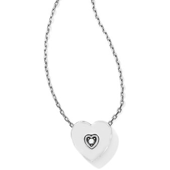 Brighton Meridian Love Notes Necklace in Silver