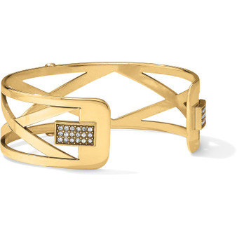 Brighton Christo Meridian Zenith Narrow Cuff Bracelet in Gold