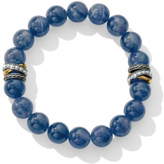 Brighton Neptune's Rings Brazil Blue Quartz Stretch Bracelet