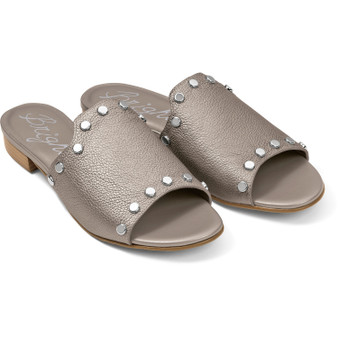 Brighton Women's Pretty Tough Night Studded Sandals in Zinc Pearl
