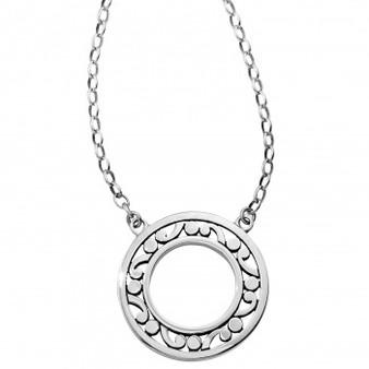 Brighton Contempo Open Ring Necklace in Silver