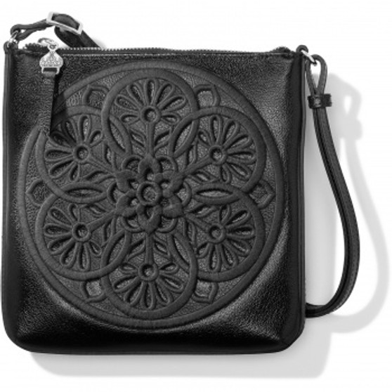 Brighton Journey to India Keely Embroidered Cross Body in Black