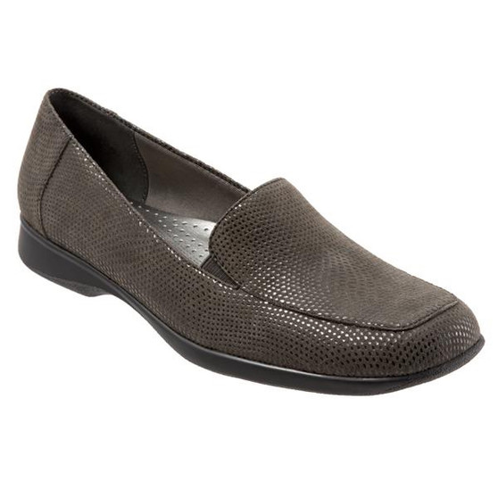 Trotters Women's Jenn Mini Dots Loafer in Dark Grey