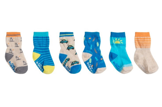 Robeez Boys Surf Socks in Multi, 6 Pack