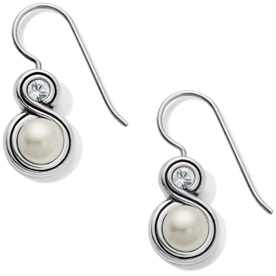 Brighton Infinity Sparkle Pearl French Wire Earrings