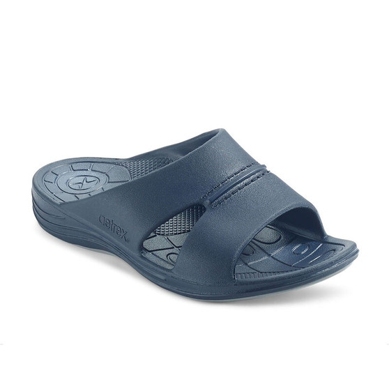 Aetrex Men's Bali Slide in Navy