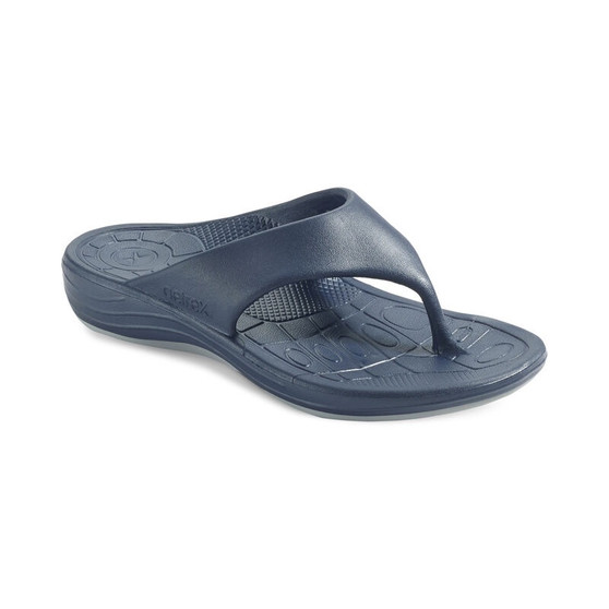 Aetrex Men's Maui Flip Flops in Navy