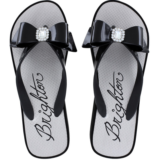 Brighton Women's Bowie Flip Flops in Black