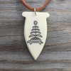 Bone Pendant with Turtle Island Design
