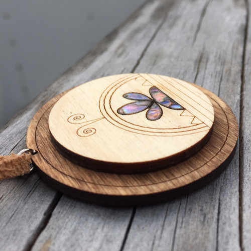 Wooden Abalone SkyDome Pendant