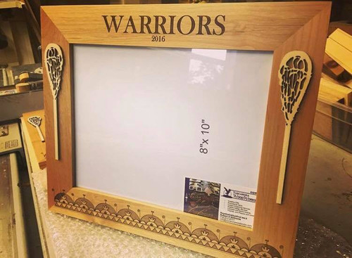 Customize this frame with your own engraved name!