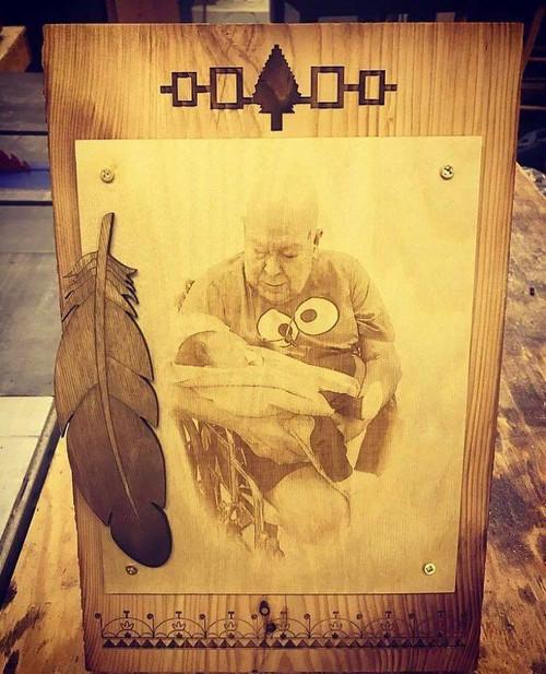 Wooden Memorial Photo Plaque