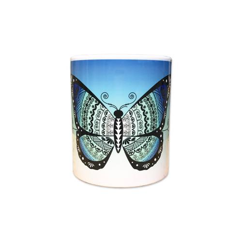 11 0z. Butterfly Mug