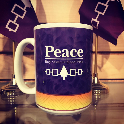 15 oz. Peace...Begins with a Good Mind Ceramic Mug