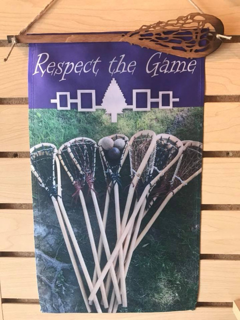 """""""Respect the Game"""" Lacrosse Banner"""