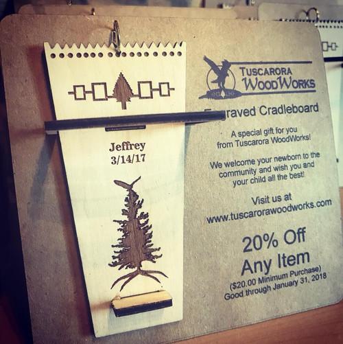 Engraved Wooden Cradleboard