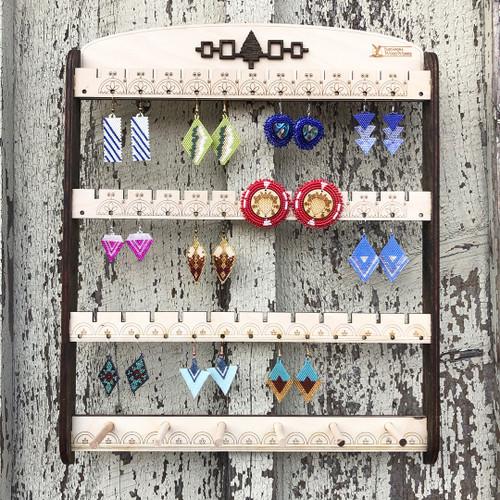 Wooden Earring Rack